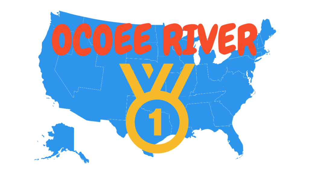 Ocoee River is the most popular in the country